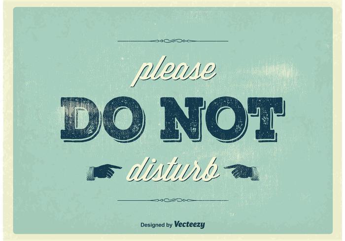 Vintage Do Not Disturb Poster
