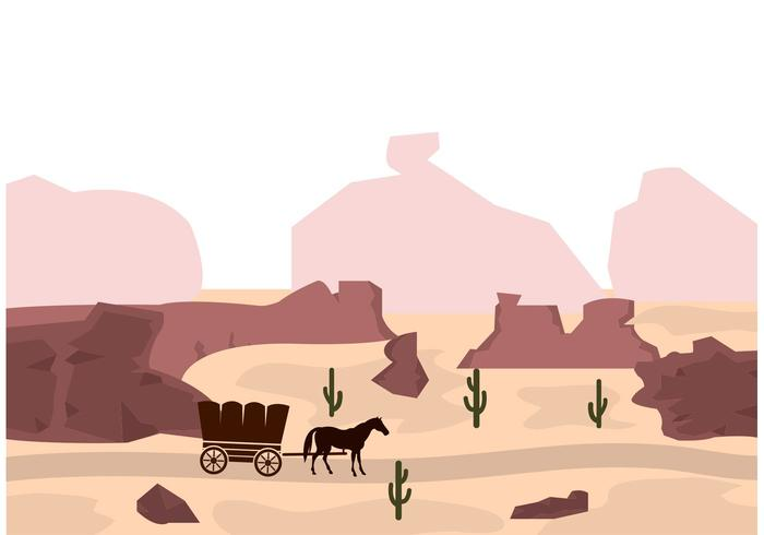 Wild West Vector Background