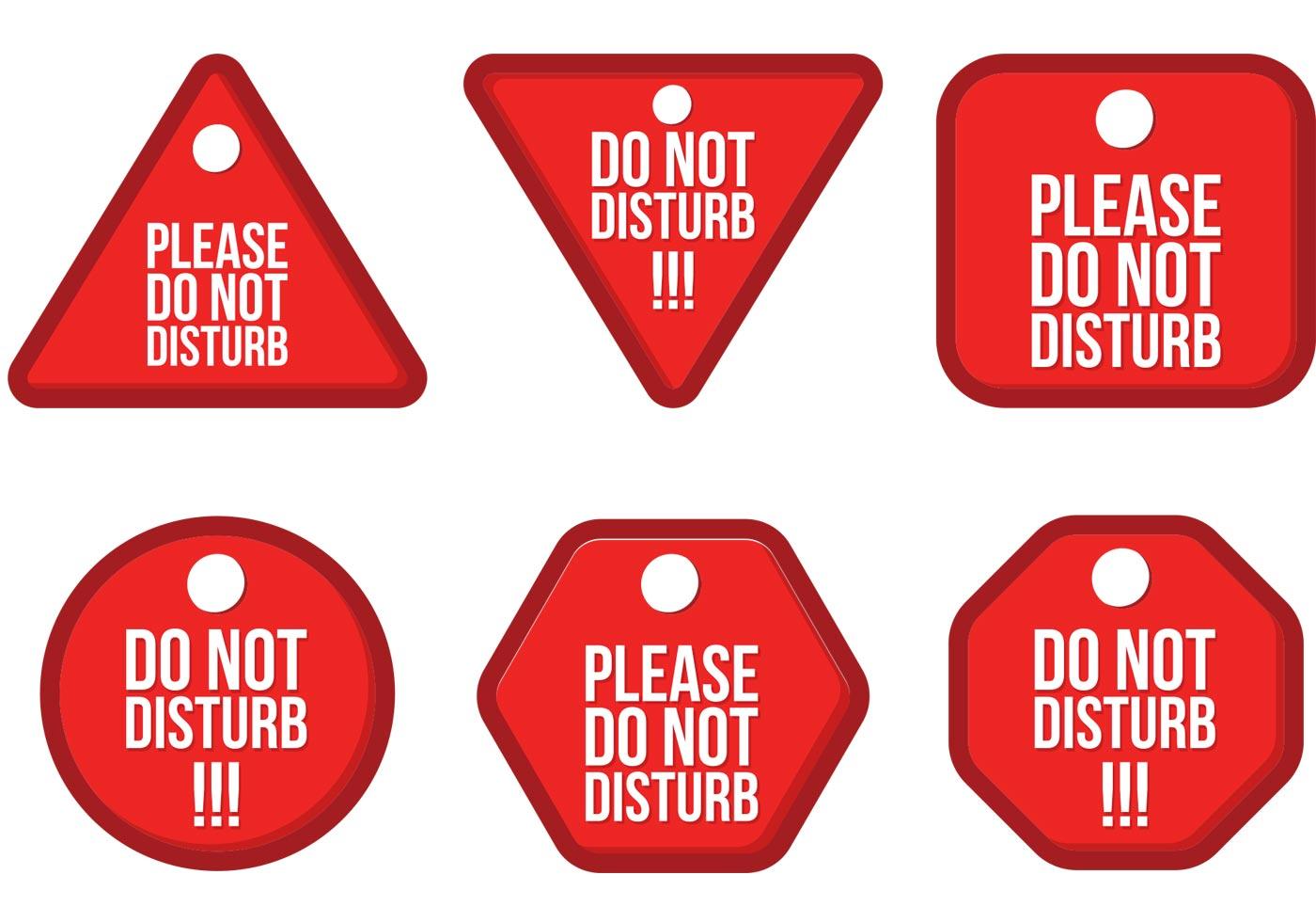Do Not Disturb Vector Pack Download Free Vector Art