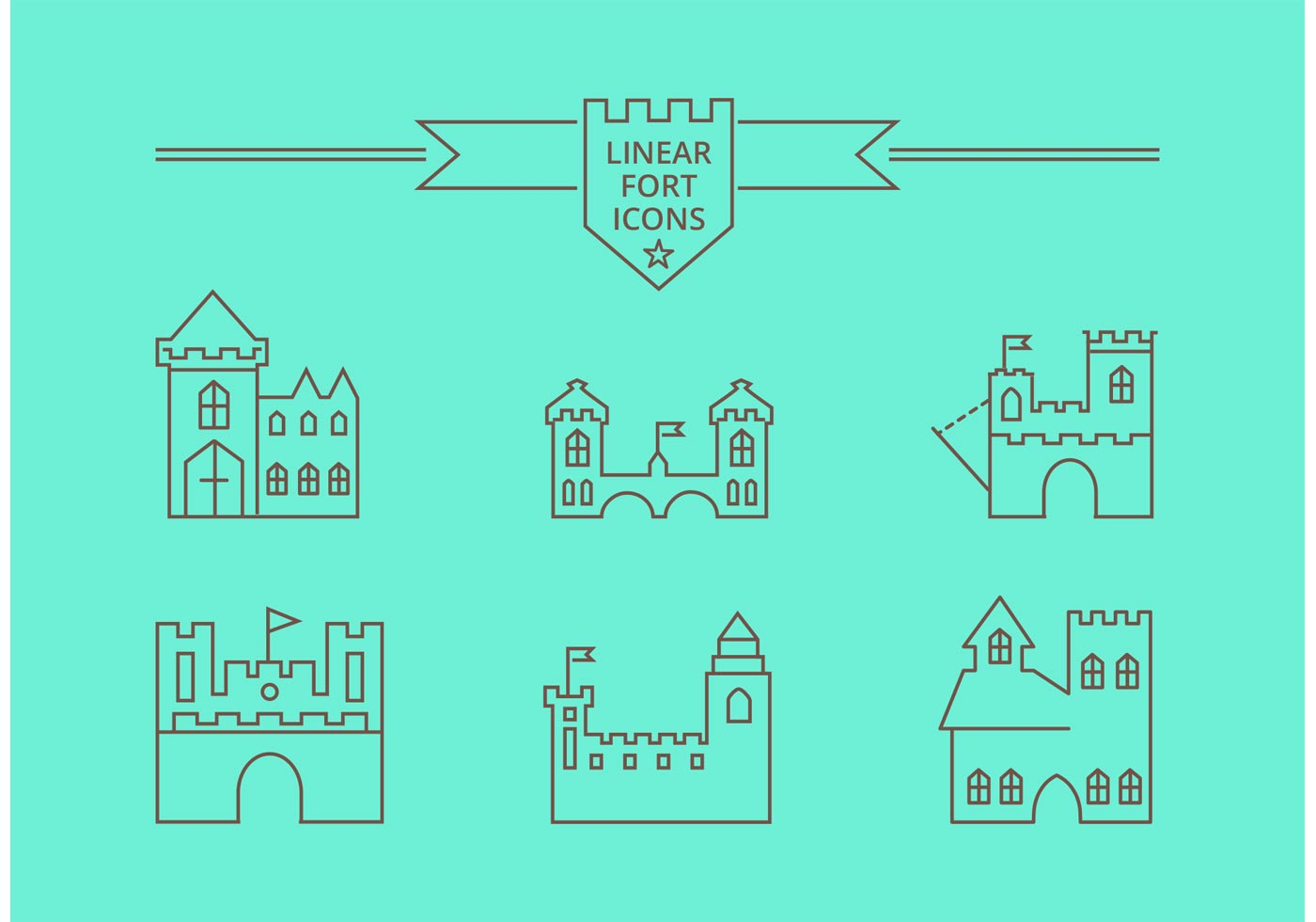 Free Vector Linear Fort Icons - Download Free Vector Art, Stock ...