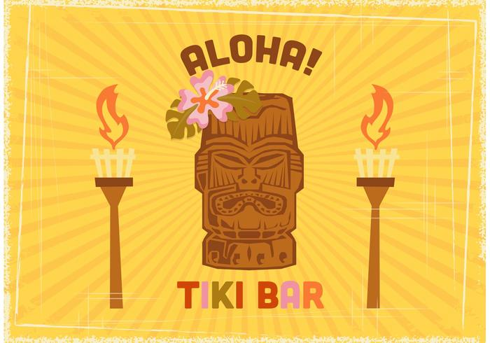 Free Tiki Bar Vector Poster