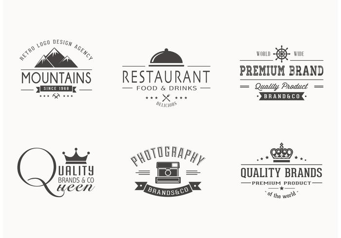 Free Retro Logotypes Vector Set