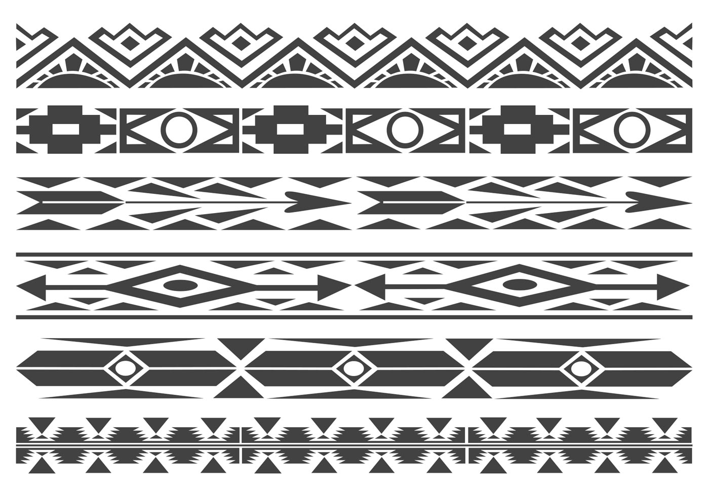 Native American Indian Border Designs