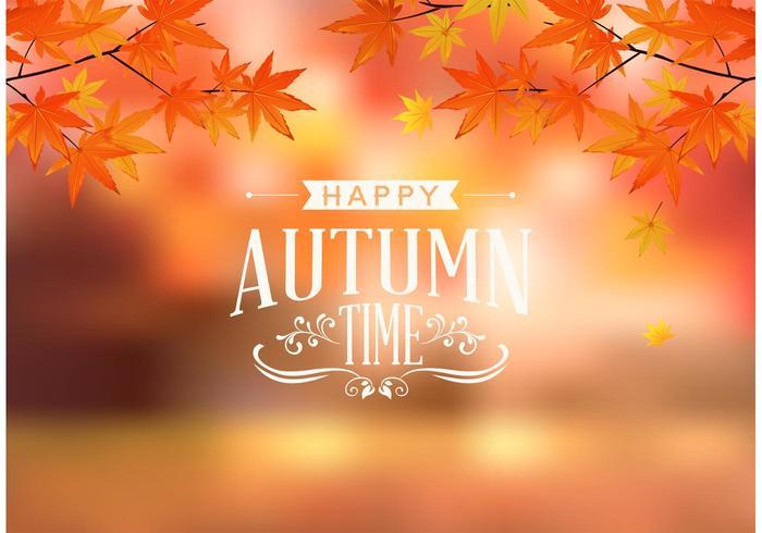 Libre feliz otoño tipografía Vector