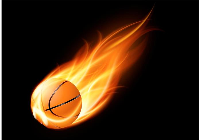 Free Basketball On Fire Vector