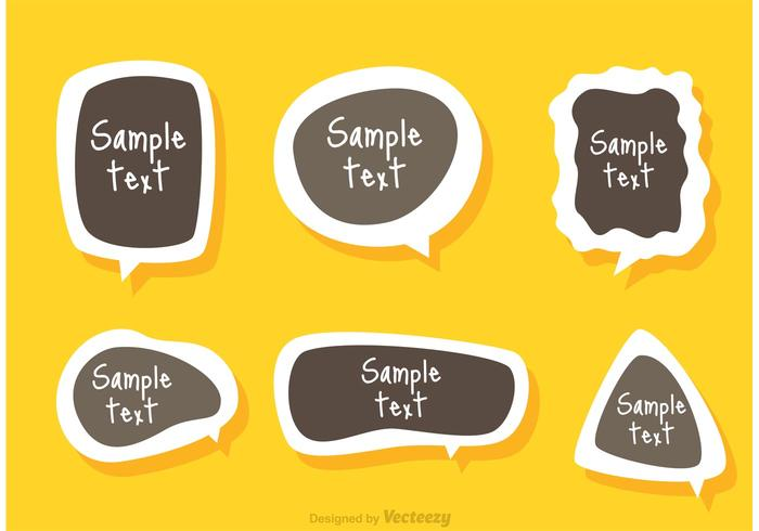 Text Box Template Sticker Vector
