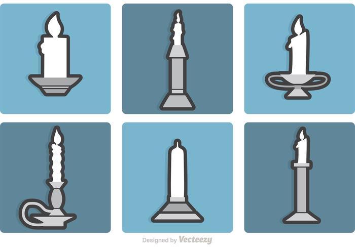 Set di vettori di candelabri d'argento