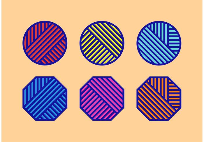 Bright Ball Of Yarn Vectors