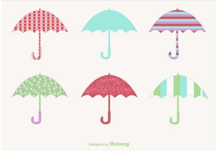 Rainy Vector Umbrellas