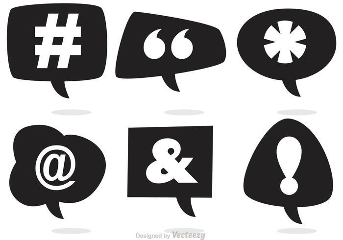 Sociala medier talbubbla vektorer