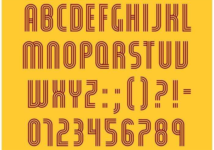 Retro Lines Type Vector Pack