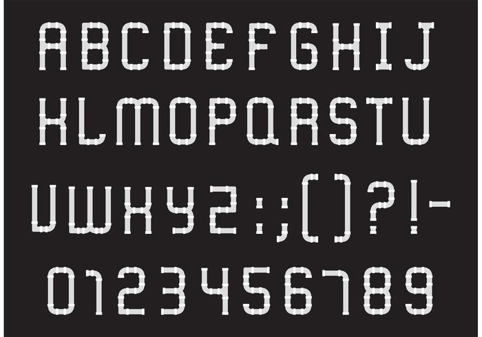 Download Pipe Alphabet Type Vector Pack - Download Free Vector Art ...
