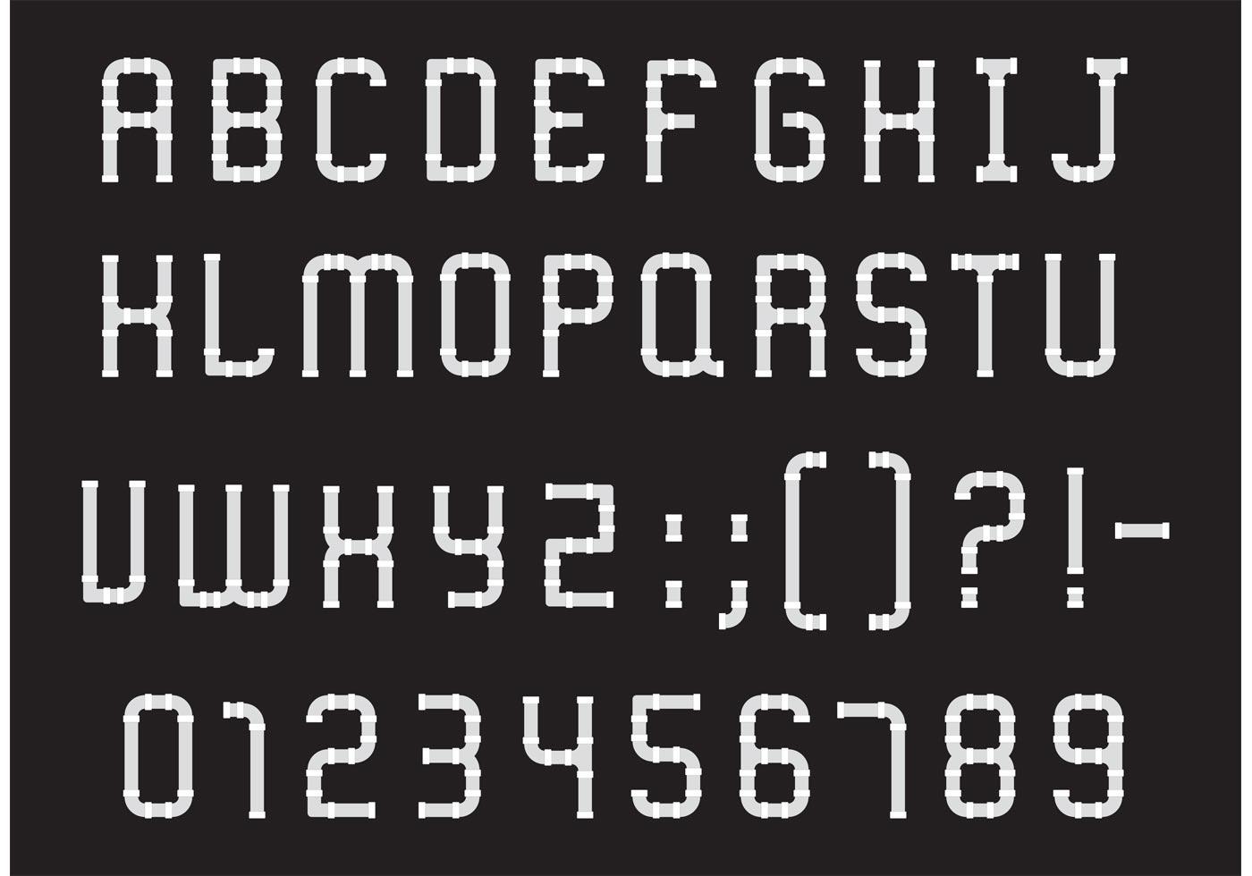 Download Pipe Alphabet Type Vector Pack - Download Free Vectors ...