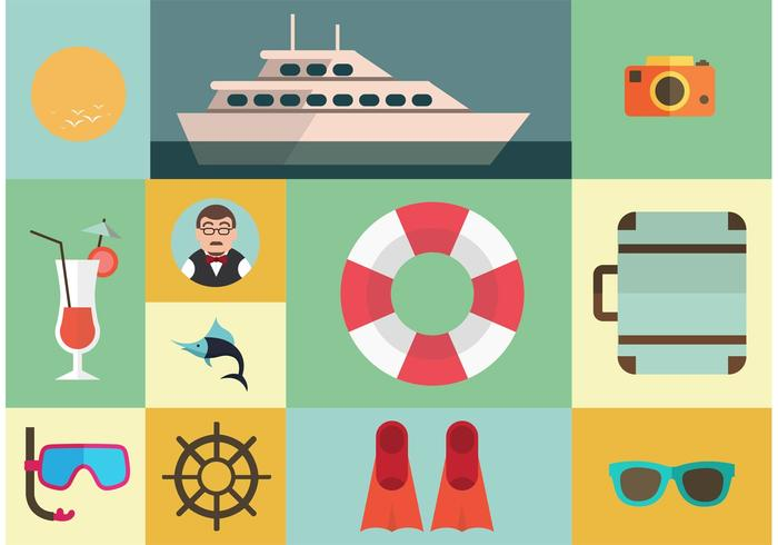 Cruise Liner Vector Elements