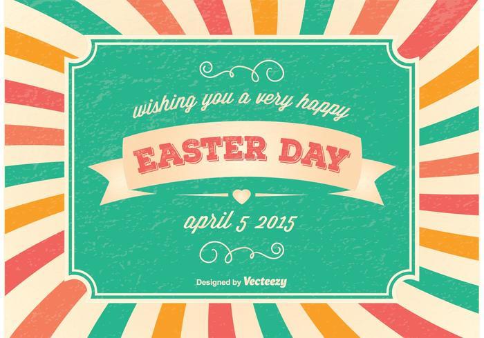 Vintage Easter Day Illustration