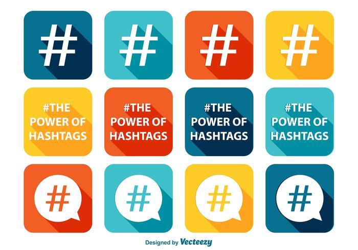Conjunto de ícones Hashtag