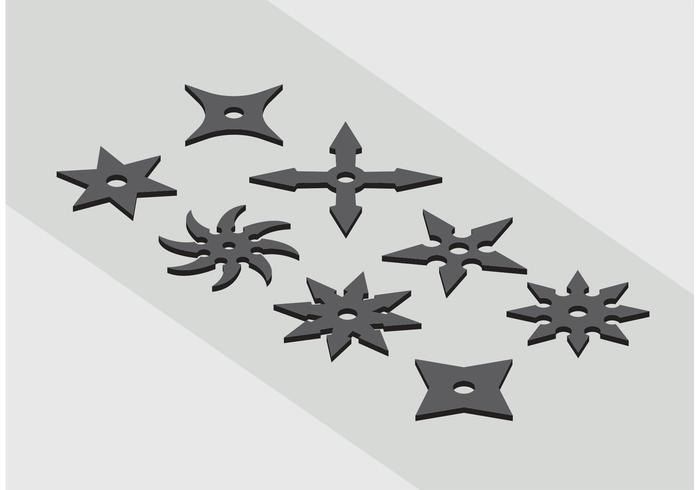 Ninja Throwing Star Icon Vectors