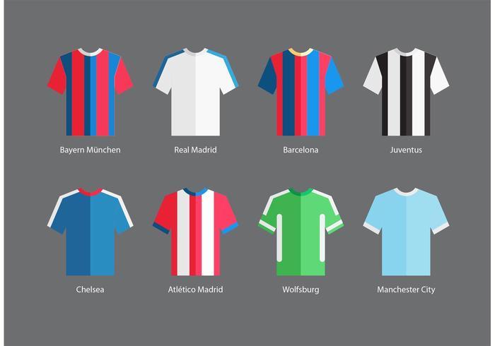 Football Sports Jersey Vectors
