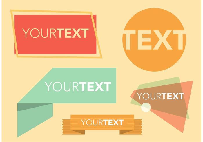 Retro Text Box Free Vectors Download Free Vector Art