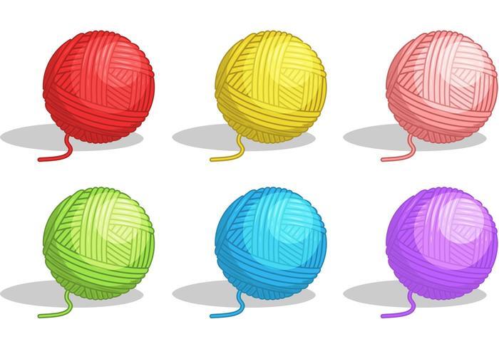 Ball of Yarn Vectors
