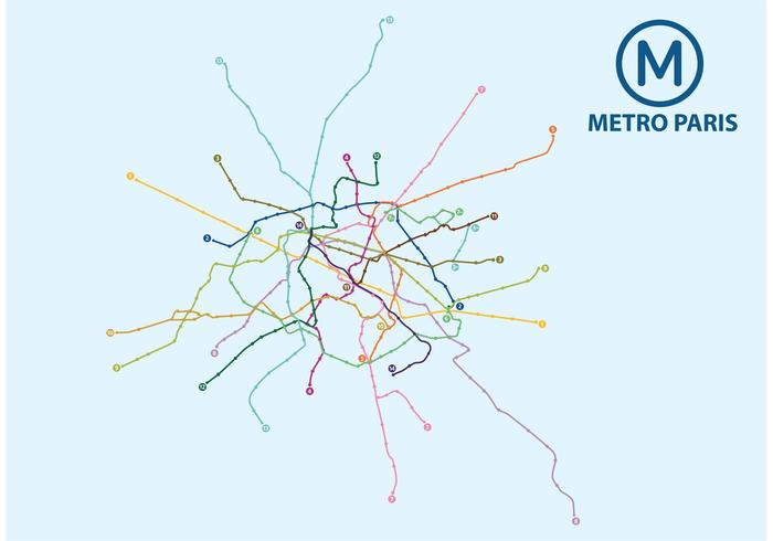 Carte graphique de Metro Paris