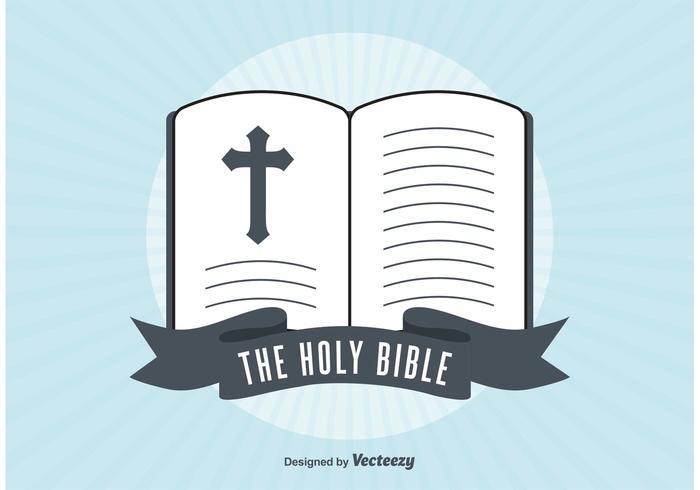 Retro öppen bibel illustration