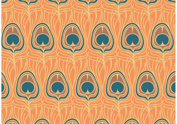 Free Vector Peacock Pattern