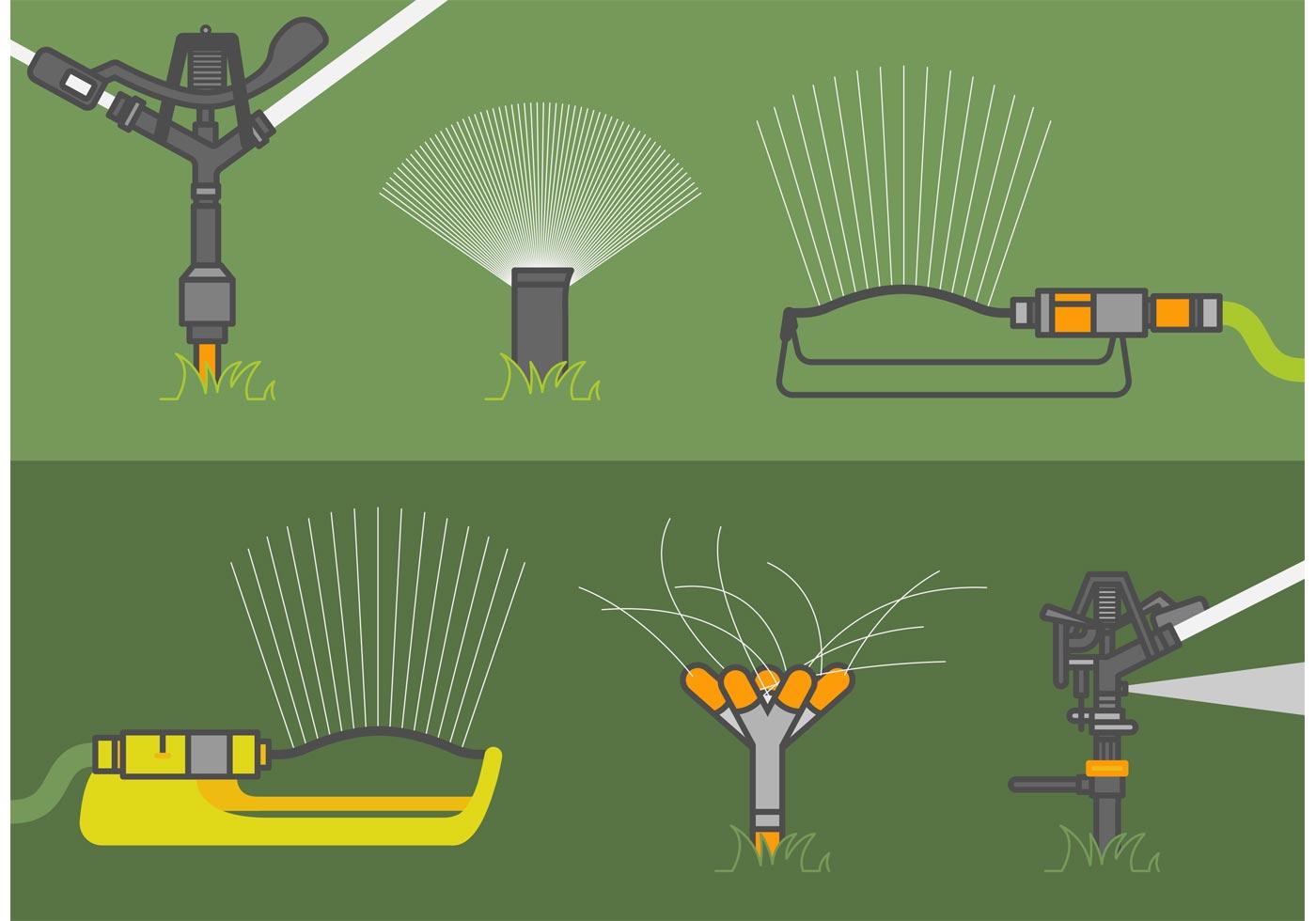 Lawn sprinkler vector set download free art