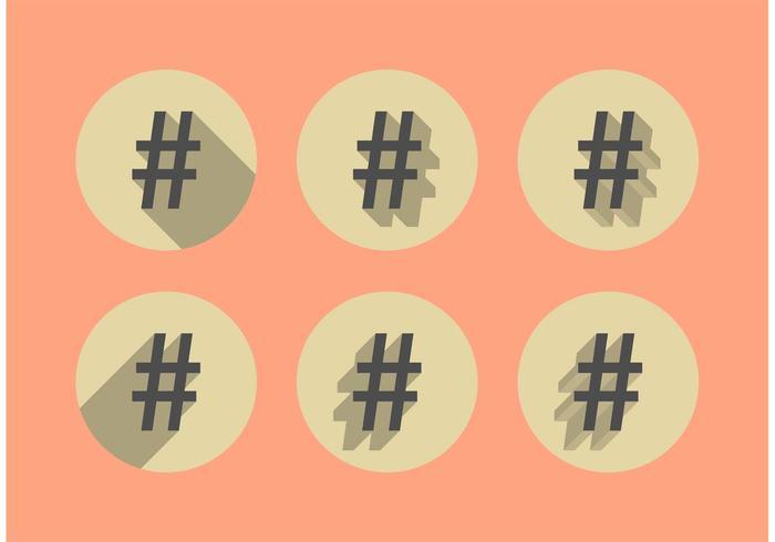 Hashtag Shadow Vectors