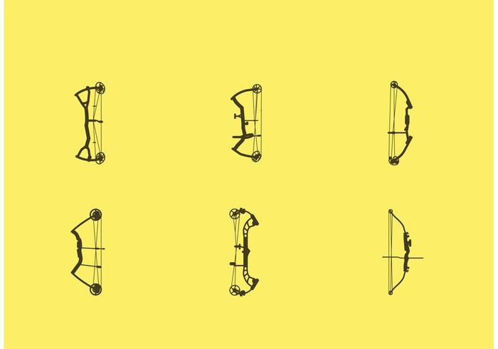 Compound Bow Vectors on Yellow