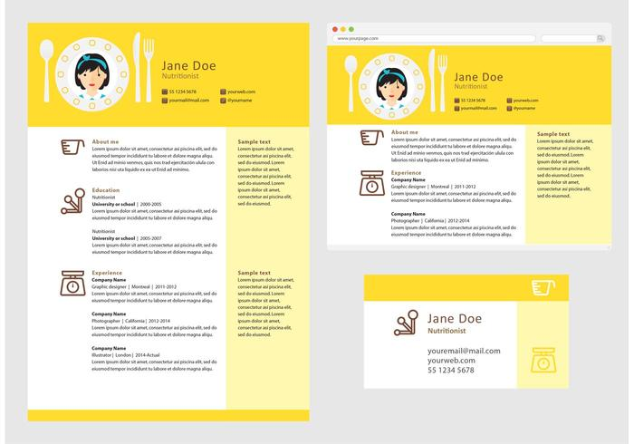 Vector Curriculum Vitae Nutritionist - Download Free Vector Art ...