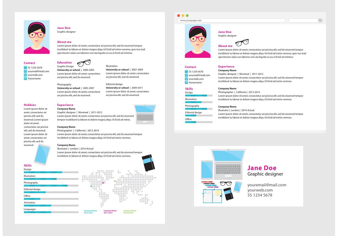 vector-curriculum-vitae-graphic-designer  Page Curriculum Vitae Pattern on formato de, resume or, high school, ejemplos de, what is,
