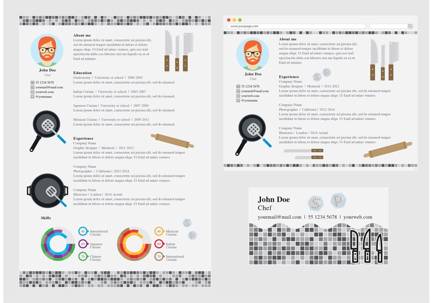curriculum vitae vector template vector art vector curriculum vitae chef