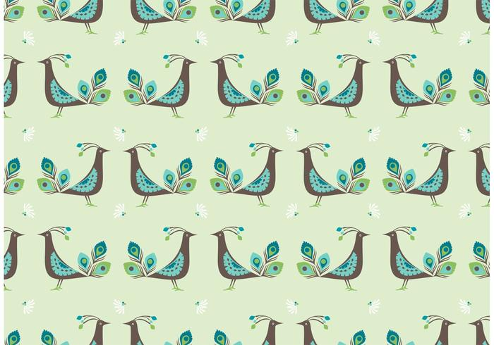 Free Peacock Vector Seamless Pattern
