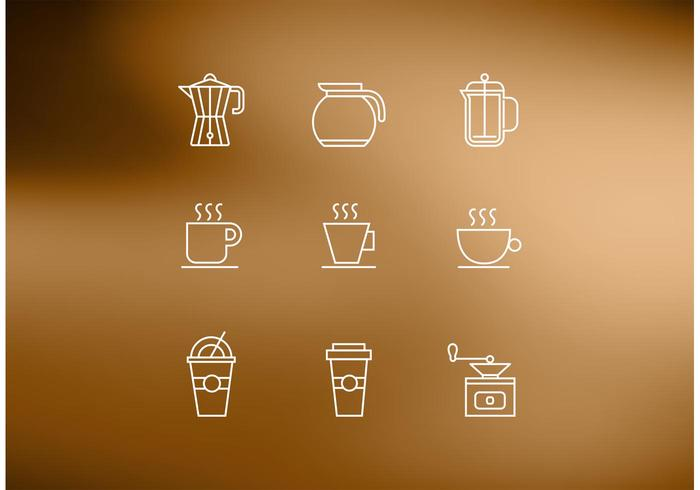 Line Coffee Vector Icons