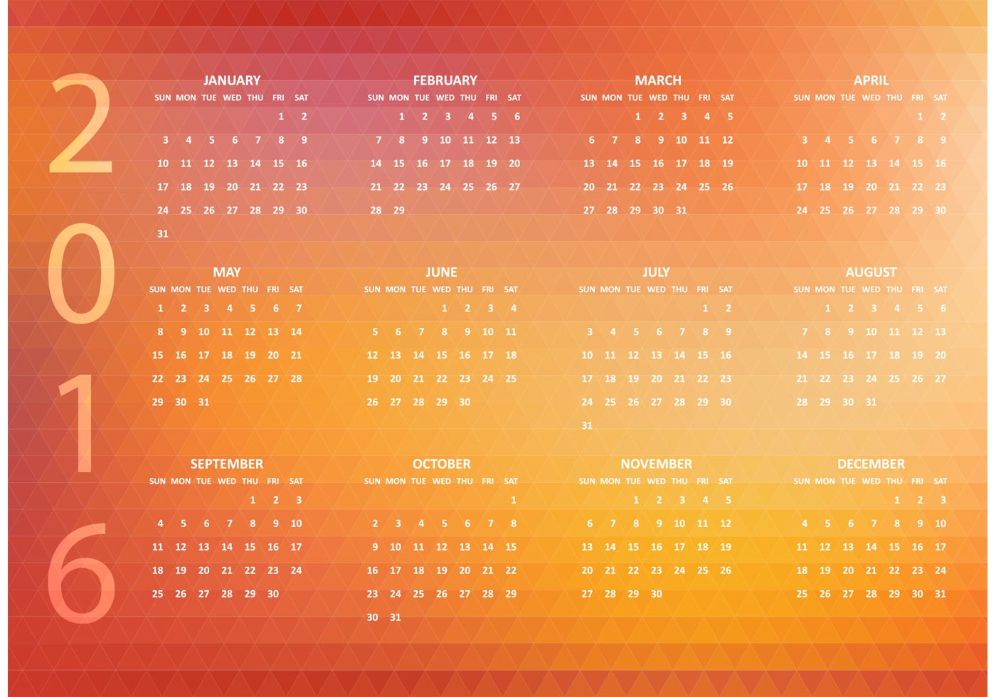 Calendar Abstract Art : Free abstract vector polygonal calendar download