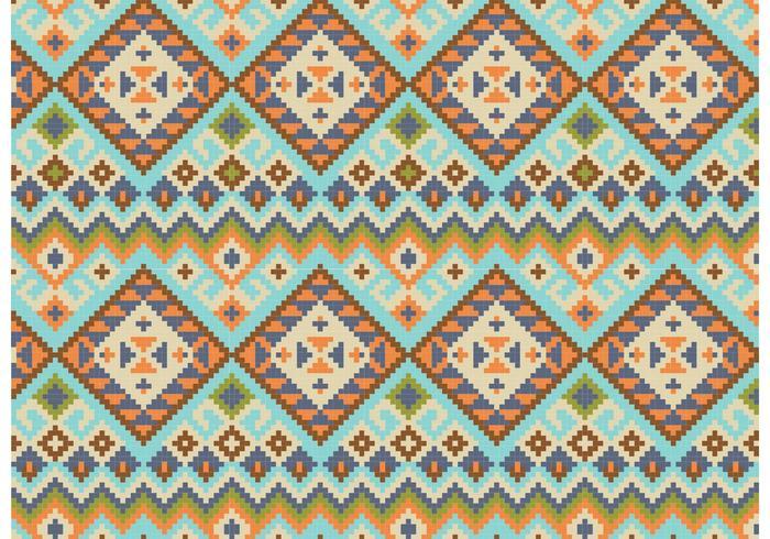 Inheemse Abstracte Patroon Achtergrond Vector