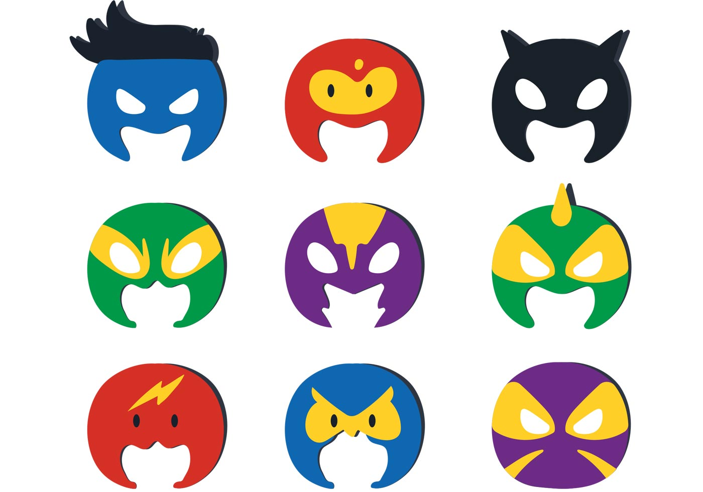 Superhero Kid Vector Masks  Download Free Vector Art, Stock Graphics