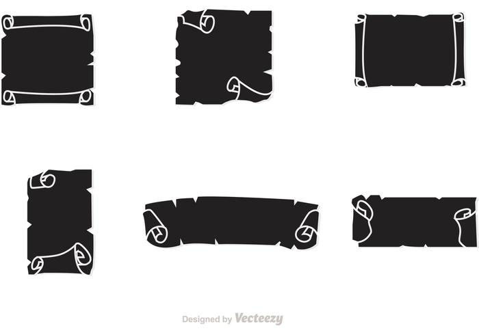 Black Scrolled Paper Vector