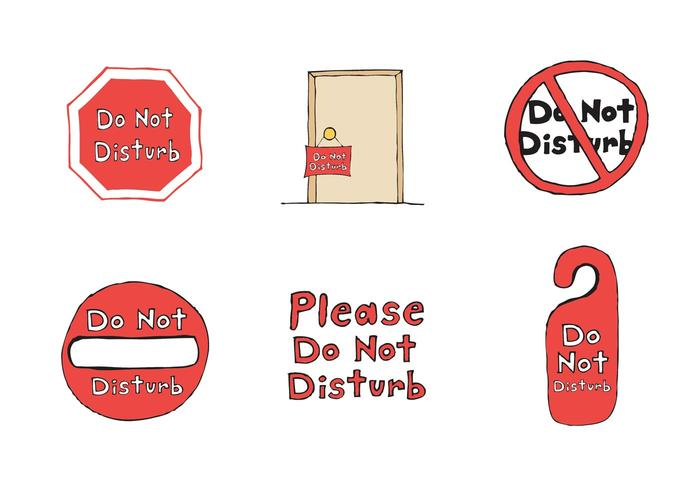 Free Do Not Disturb Vector Series