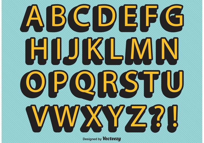 Retro Comic Style Alphabet