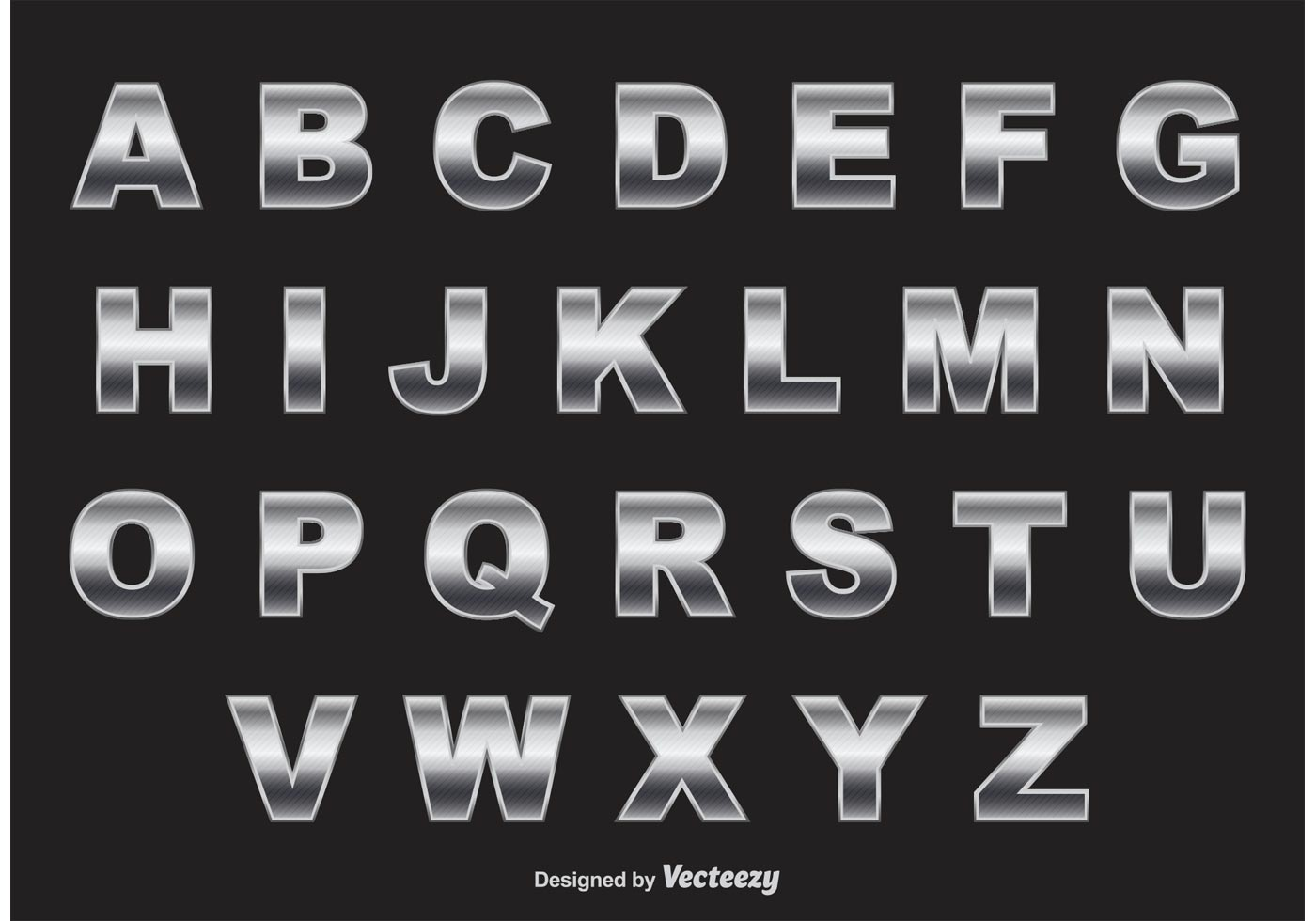 Chrome Alphabet Vector - Download Free Vector Art, Stock Graphics ...