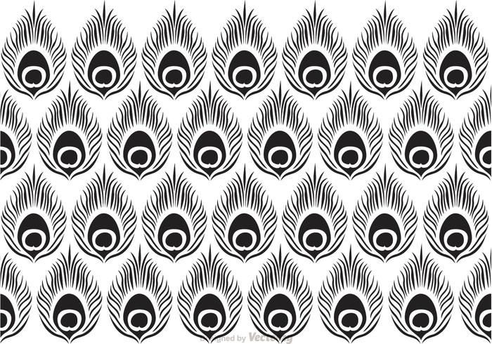 Peacock Black Pattern Vector - Download Free Vector Art ...