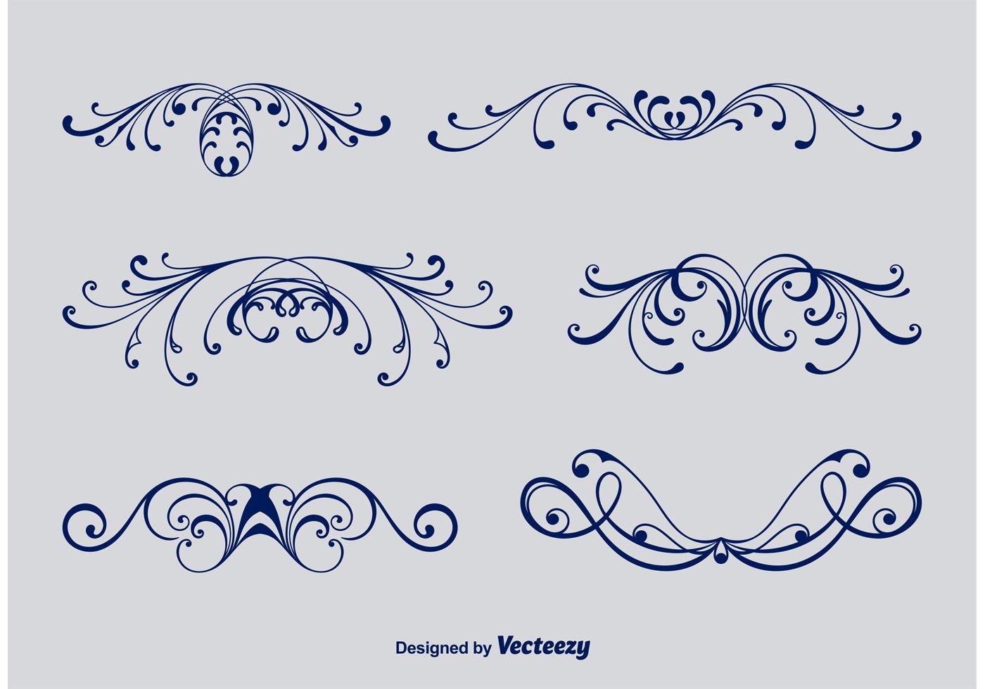 Ornamentos victorianos caligráficos - Descargue Gráficos y Vectores ...
