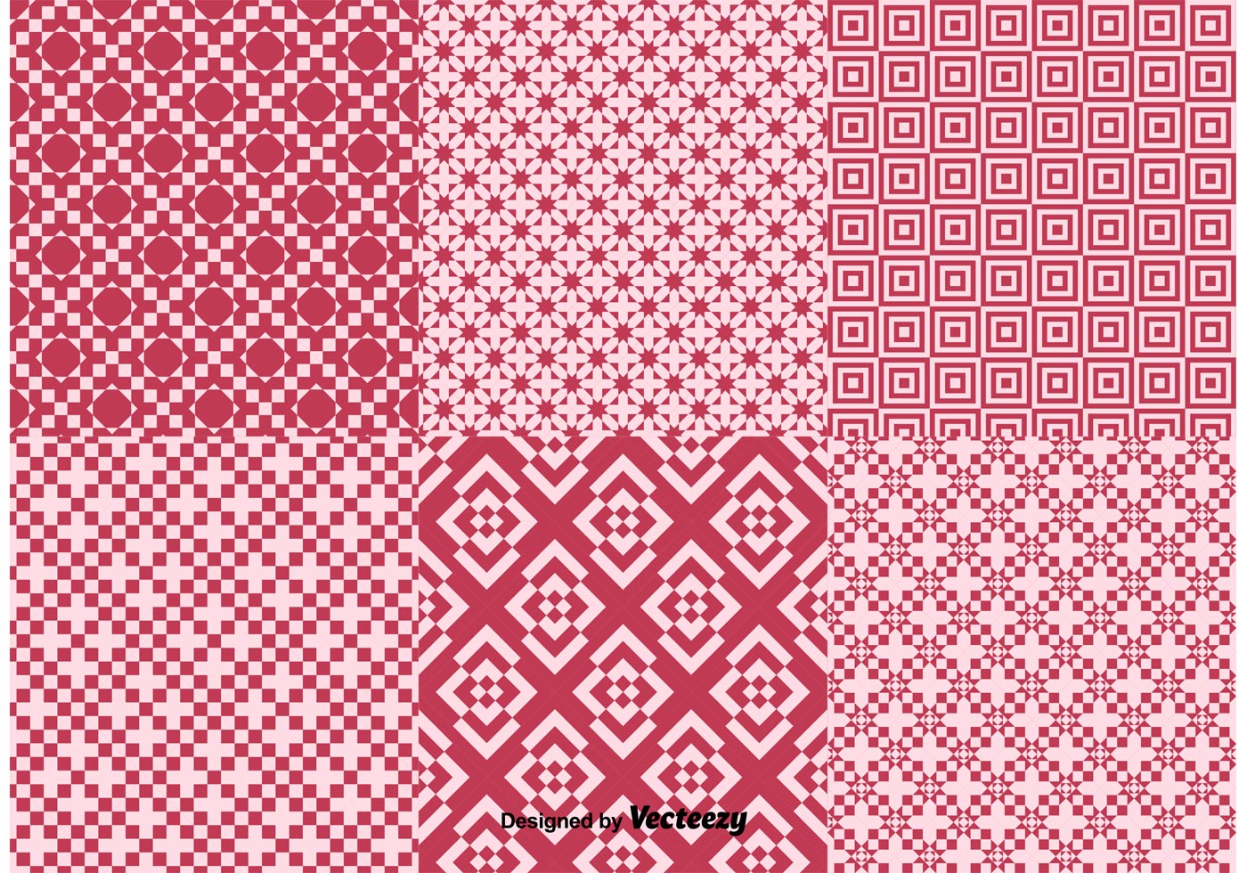 Geometric Red Background Patterns Download Free Vector