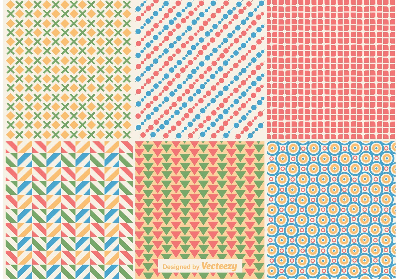 Geometric Retro Background Patterns - Download Free Vector ...