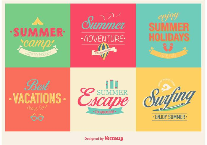 Summer Vacations Labels
