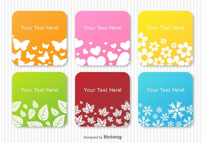 Seasons Themed Text Labels