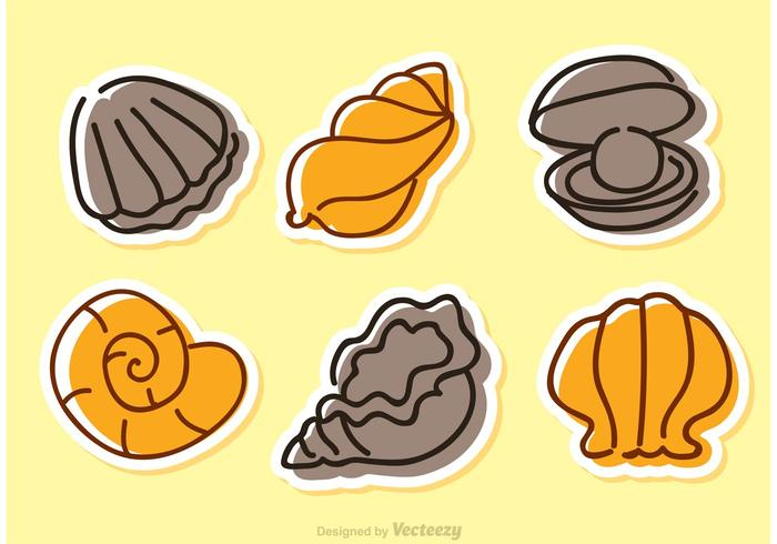 Sea Shell Vector Icons