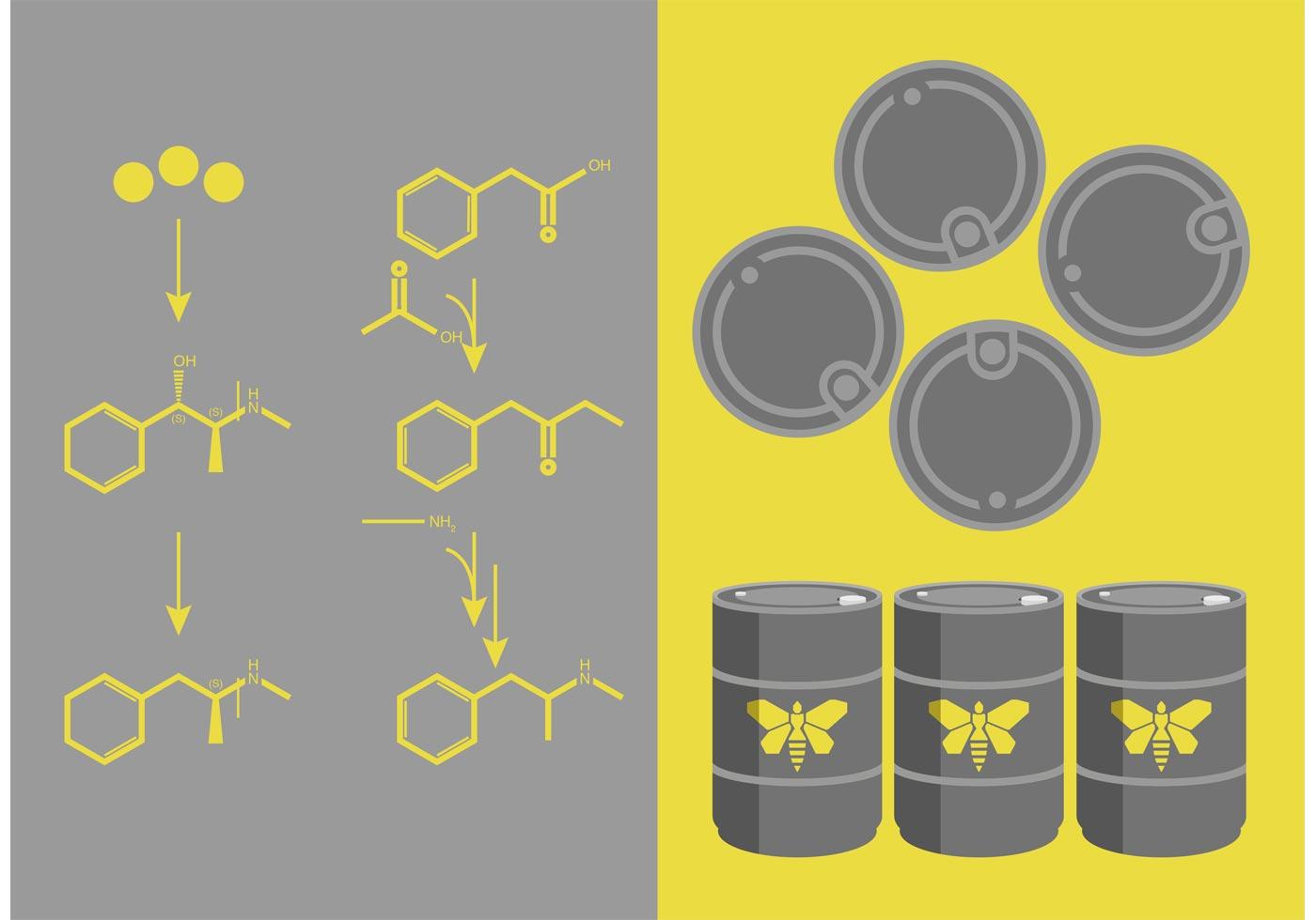 Breaking Bad Meth Chemistry Vector Set Download Free